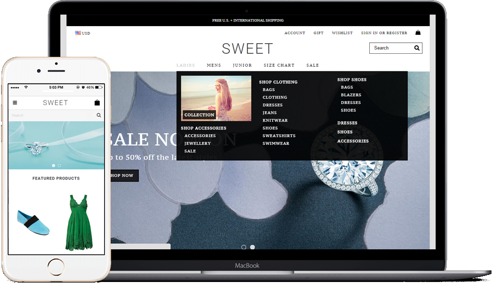 sweet bigcommerce theme
